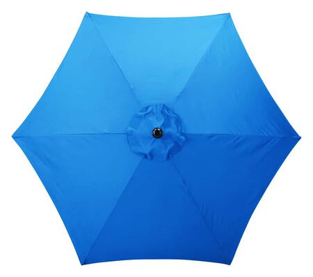 Living Accents 9 ft. Tiltable Royal Blue Market Umbrella