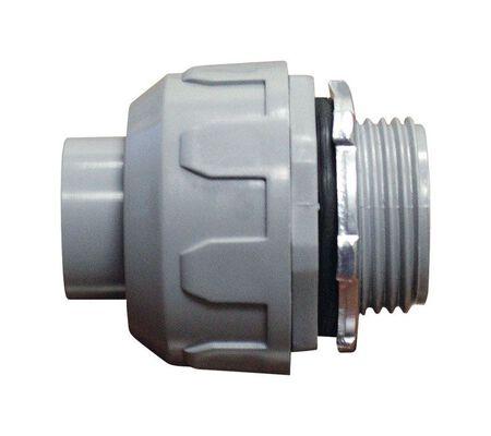 Sigma 1 in. Dia. Plastic Straight Connector Liquid Tight 1 pk