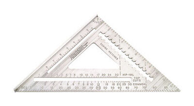 Johnson Aluminum Rafter Angle Square 12 in. L