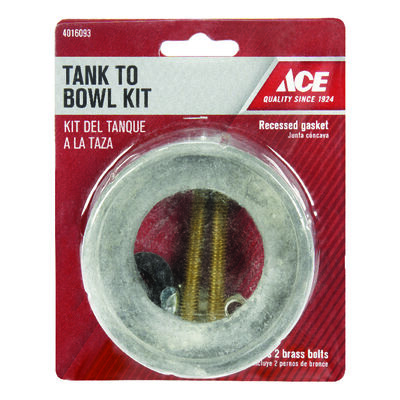 Ace Tank to Bowl Kit 3-1/2 in. H x 2-1/2 in. L Brass/Rubber