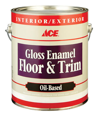 Ace Gloss Enamel Floor and Trim Paint 1 gal. Brown