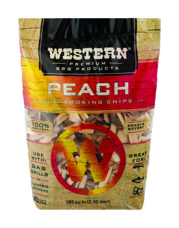 Western Peach Wood Smoking Chips 2 lb.