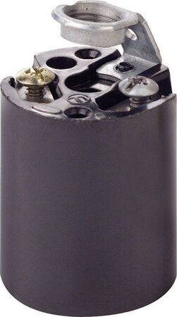 Leviton Keyless Socket 660 watts 250 volts Black
