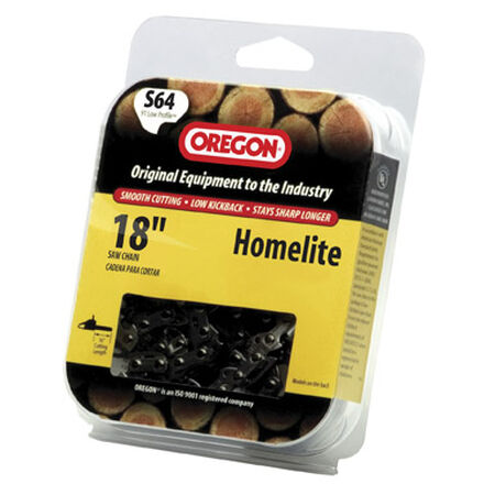 Oregon Chainsaw Chain 64 links 18 in. For Homelite 91 Low Profile