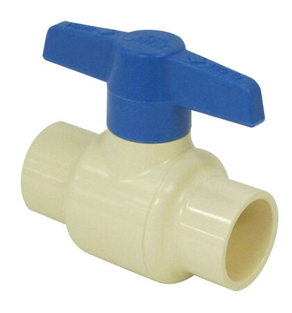 King One Piece Ball Valve 1/2 in. Push Fit x 1/2 in. Dia. Push Fit CPVC