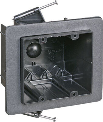 Carlon 3-1/2 in. H Rectangle 2 Gang Electrical Box Black Plastic