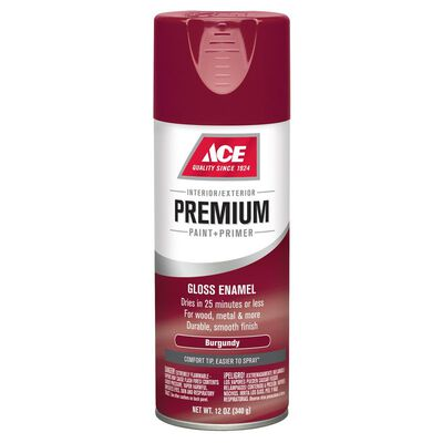 Ace Premium Burgundy Gloss Enamel Spray Paint 12 oz.