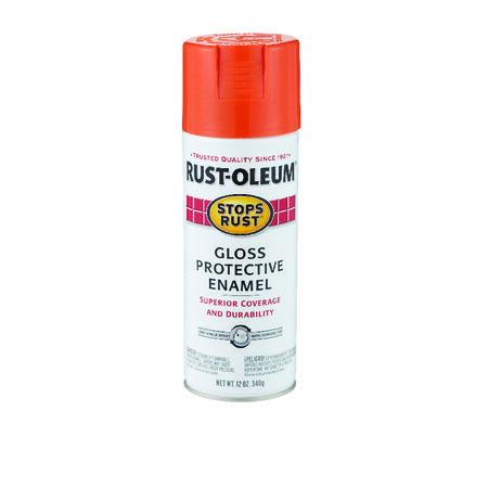Rust-Oleum Stops Rust Gloss Orange Protective Enamel Spray 12 oz.