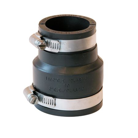 Fernco Schedule 40 2 in. Socket x 1-1/2 in. Dia. Socket Flexible PVC Coupling
