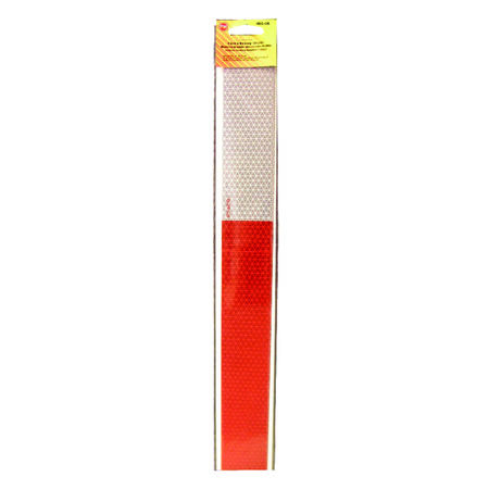 Peterson 2.63 in. W x 2 in. L Red/White Reflective Strip Tape 4 pk