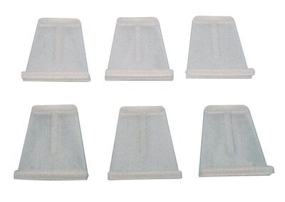 Prime-Line Spline Channel Pull Tabs 0.9375 in. W x 1.06 in. L White Plastic