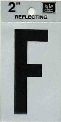 Hy-Ko Self-Adhesive Black Reflective Vinyl Letter F 2 in.