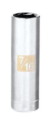 Craftsman 7/16 Alloy Steel Deep Socket 1/4 in. Drive in. drive