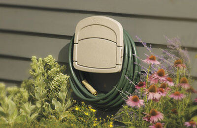 Suncast Hose Hangout Wall Mount Hose Holder 150 ft. Taupe