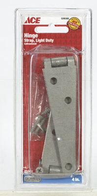 Ace Steel Light Duty Strap Hinge 4 in. L Galvanized 2 pk