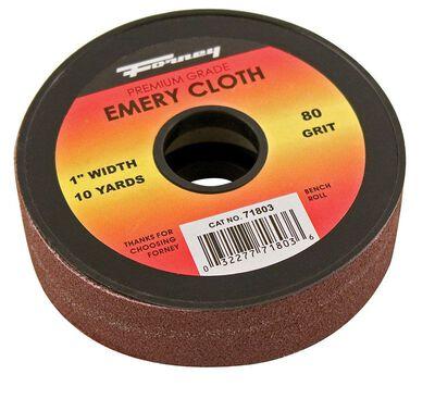 Forney Emory Cloth Sandpaper 10 yd. L 80 Grit 1 pk
