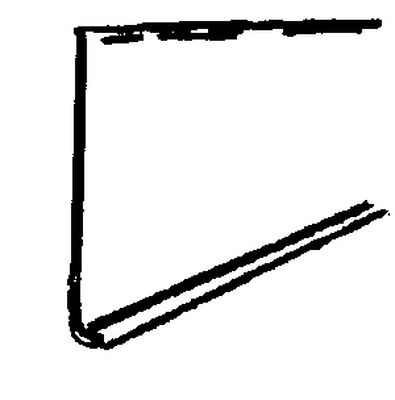 M-D Building Products Coved Wall Base Vinyl 4 in. H x 4 ft. W Black