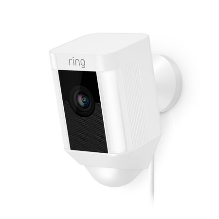 Ring Hardwired Outdoor White Wi-Fi Security Camera