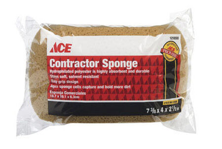 Ace Contractor Sponge 7.37 in. L 1 pk