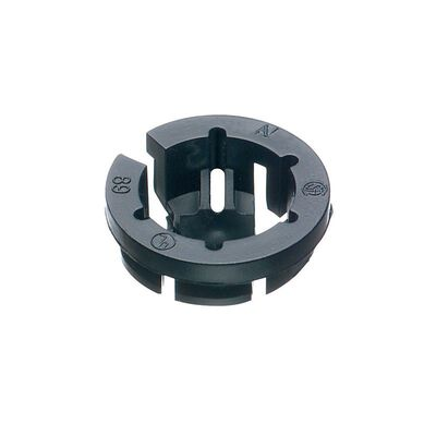 Arlington Black Button Push-In Connector Black 3/8 in. Dia. 10 pk