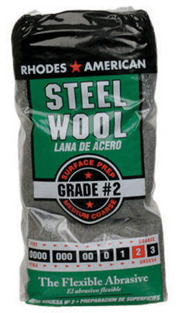 Rhodes American 2 Grade Medium/Coarse Steel Wool Pad 12 pk