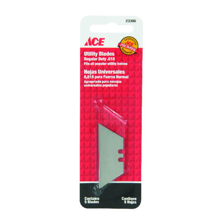 Ace Regular Duty Utility Knife Replacement Blade 5 pk