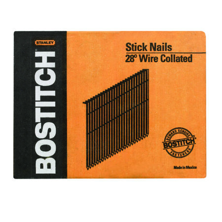 28 Degree Wire COllated Full Round Head Stick Framing Nails