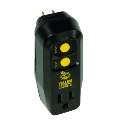 Yellow Jacket 1 outlets Surge Protector Black/Yellow