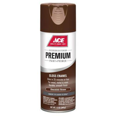 Ace Premium Chocolate Brown Gloss Enamel Spray Paint 12 oz.