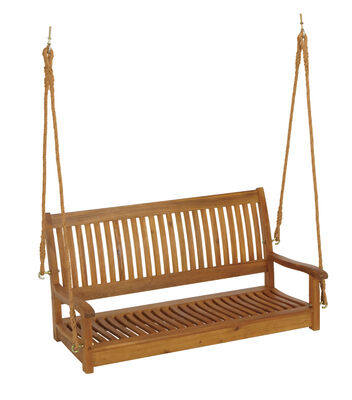 Living Accents Nyatoh Porch Swing Wood Brown 500 lb. 23-5/8 in. D x 23-5/8 in. H x 49-1/16 in.