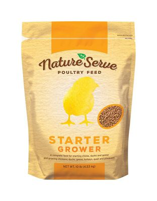 NatureServe Non-Medicated Starter/Grower Feed Granules For Poultry 10 lb.