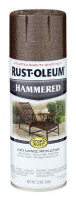 Rust-Oleum Stops Rust Brown Gloss Hammered Spray 12 oz.