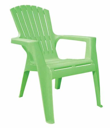 Adams Kids 1 Summer Green Polypropylene Adirondack Chair Green