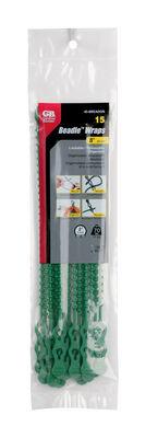 Gardner Bender Beadle Wrap 8 in. L Green Beaded Cable Tie 15 pk