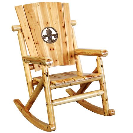 Aspen Fleur de Lis Medallion Single Rocking Chair II