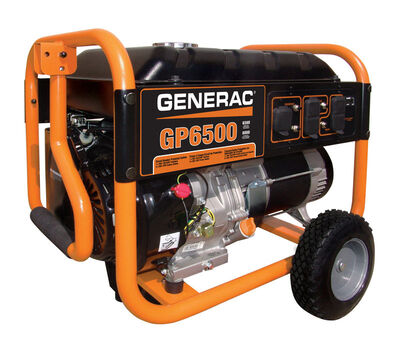 Generac Power Systems 6500 watts Portable Generator 10 hr.