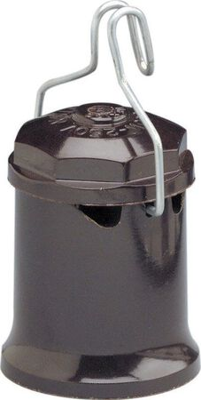 Leviton Keyless Outdoor Socket 250 volts 660 watts Black