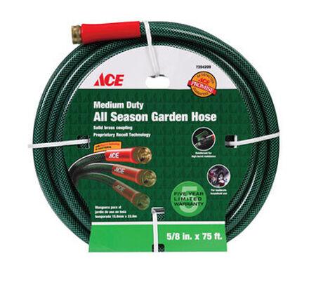 Ace All-Season 5/8 in. Dia. x 75 ft. L Garden Hose Kink Resistant