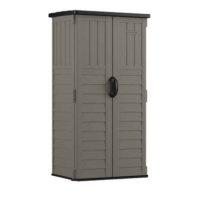 Suncast 6 ft. H x 2.7 ft. W x 2 ft. D Gray Resin Vertical Storage Shed