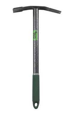 Yard Butler Terra Weeder 16 in. 15.5 in. Beveled Edge Steel Weed Remover