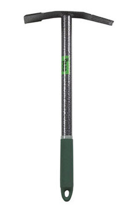 Yard Butler Terra Weeder 16 in. 15.5 in. Beveled Edge Steel Weed Remover