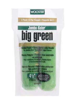 Wooster Big Green Flocked Foam Paint Roller Cover 3/8 in. L x 4-1/2 in. W 2 pk
