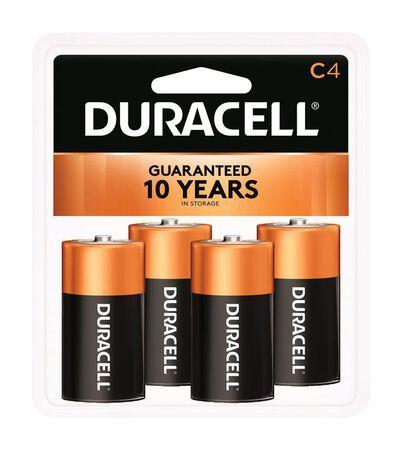 Duracell Coppertop C Alkaline Batteries 1.5 volts 4 pk