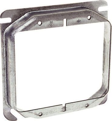 Raco Square Steel 2 gang Electrical Cover For Two Wiring Devices Gray