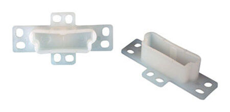 US Hardware 2-3/4 in. L 2 pk Drawer Rear Mounting Bracket