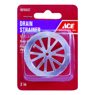 Ace 2 in. Chrome Chrome plated Tub Strainer
