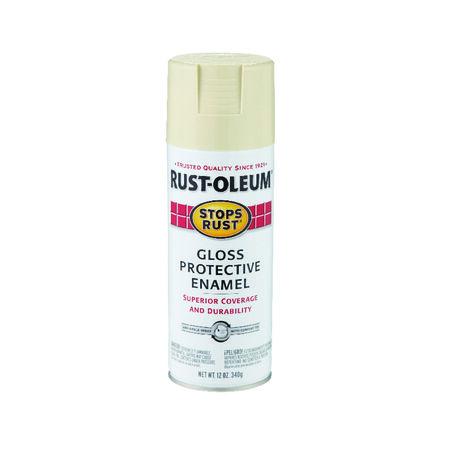 Rust-Oleum Stops Rust Gloss Almond Spray Paint 12 oz.