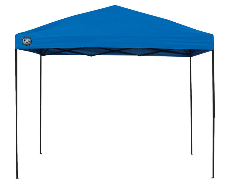 Shade Tech Blue Polyester Canopy 8 7 8 Ft H X 10 Ft W X