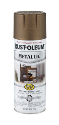 Rust-Oleum Stops Rust Antique Brass Gloss Metallic Spray 11 oz.