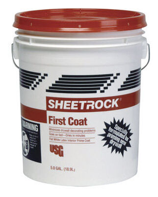 Sheetrock First Coat Latex Interior Primer 5 gal. White Flat